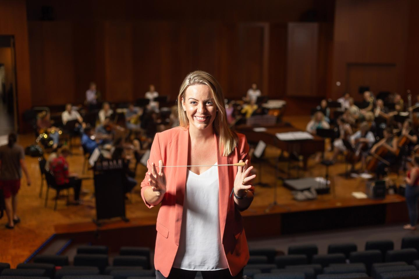 Jessica Gethin, Perth Symphony Orchestra chief conductor and artistic director.