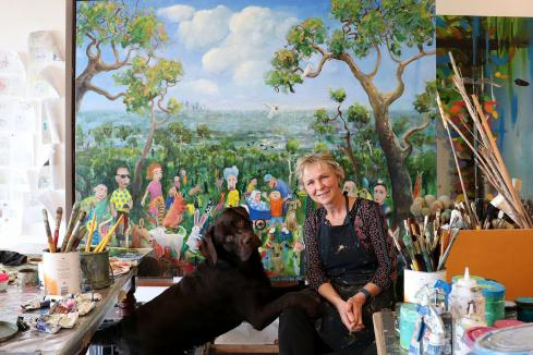 Artist uses business success to back fundraiser