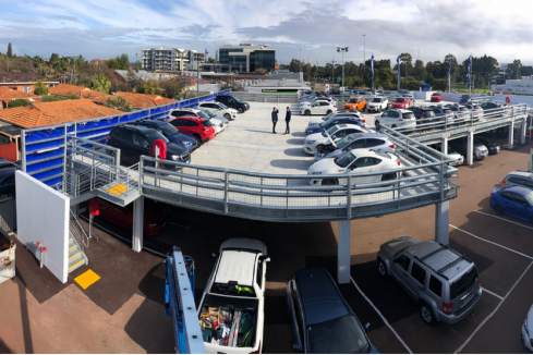 Subaru buys Parkd's first relocatable car park
