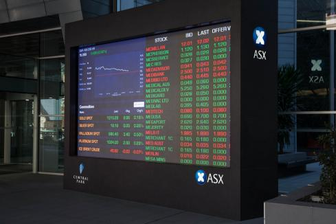 ASX falls and Aussie hits 10-year low