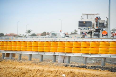 Crash barrier for WA-first trial