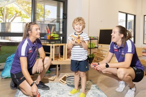 Dockers play in childcare space