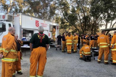 Bushfire funds for food vouchers, basics