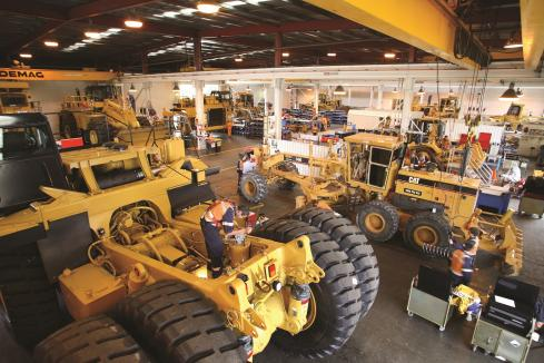 Caterpillar training facility for Collie