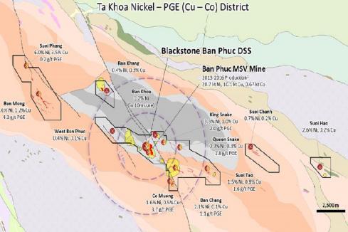 Blackstone to hunt down more high-grade sulphides in Vietnam