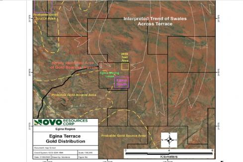 Pilbara alluvial channel gold find for Novo