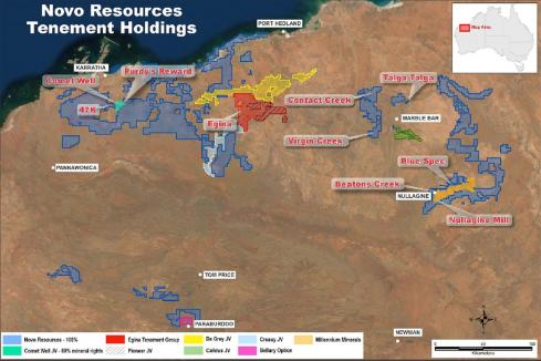 Novo completes earn-in over Pilbara gold project