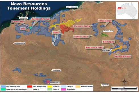 Novo wraps up purchase of Pilbara gold ground