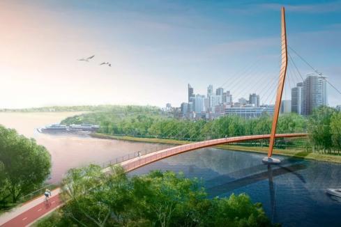 Builders shortlisted for Swan River bridge