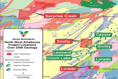 Valor expands footprint in Canada's uranium-rich Athabasca Basin