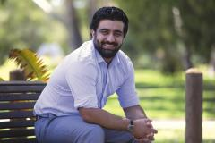 Azimi works to plant positive seeds
