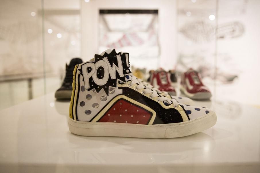 Sneaker lovers get their kicks at art gallery