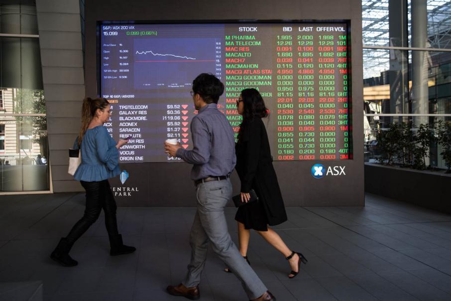 Aust shares open lower