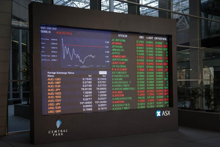 Australian shares lower in Wall St's wake