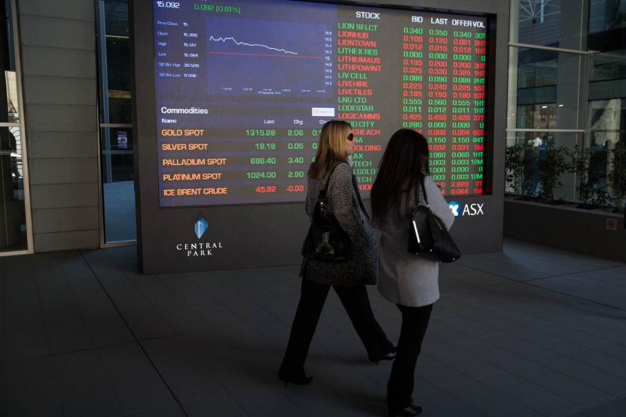 Aust shares softer as materials weigh