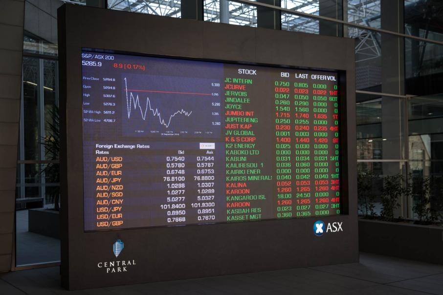 Aust shares open lower after Wall St falls