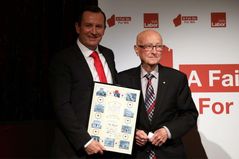 Mal Bryce honoured for political, industry contribution