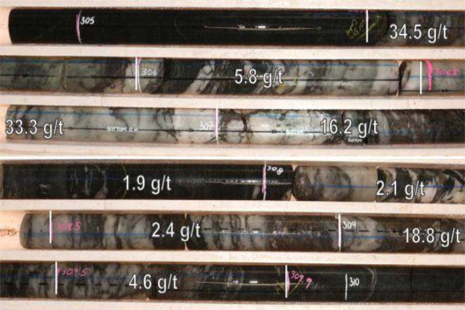 Draig finds high grade gold near old Bellevue mine