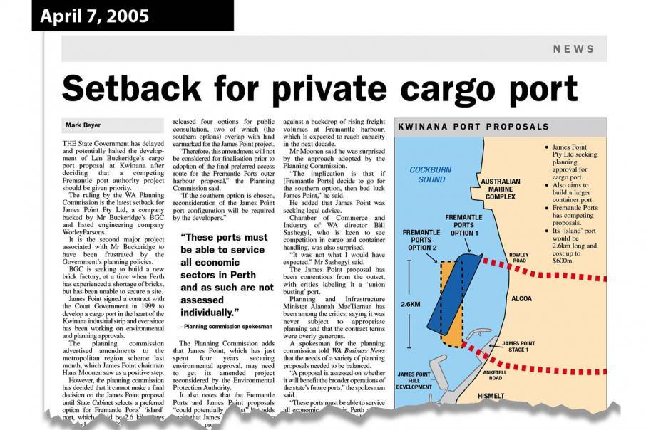 Westport planning continues long port saga