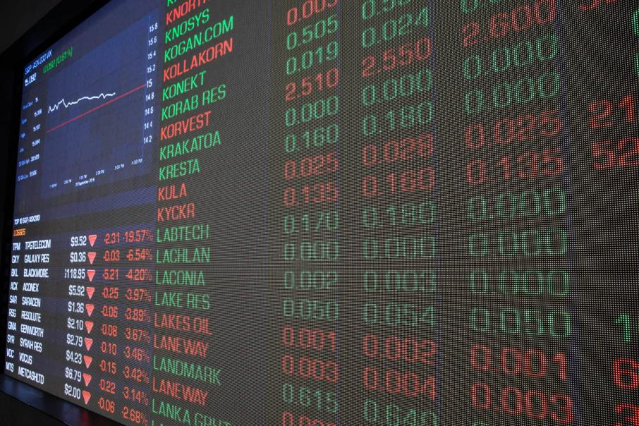 Financials weigh down Aust shares at open