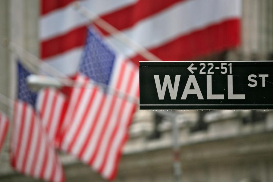 Wall St near flat, but financials climb