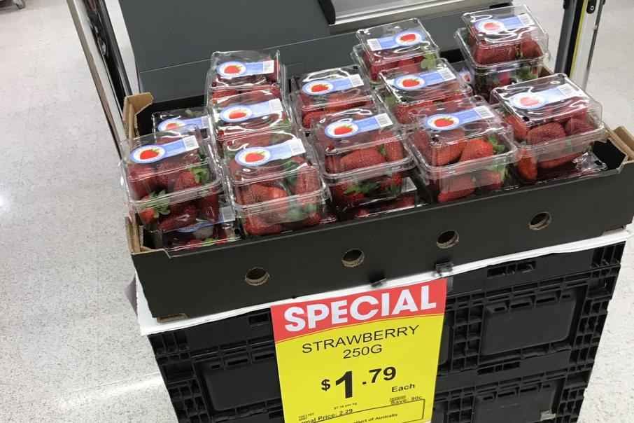 WA confirms 10 needles in strawberries