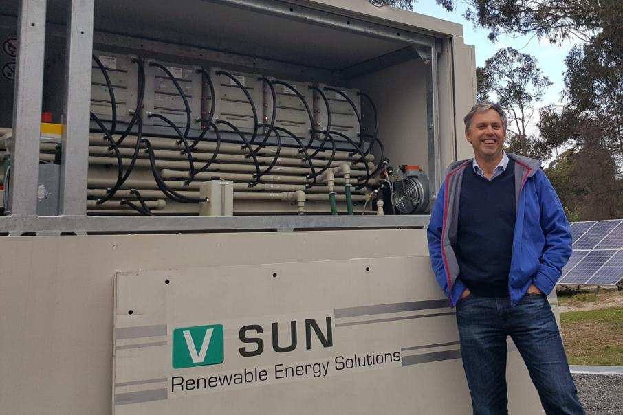 Vanadium battery a WA first