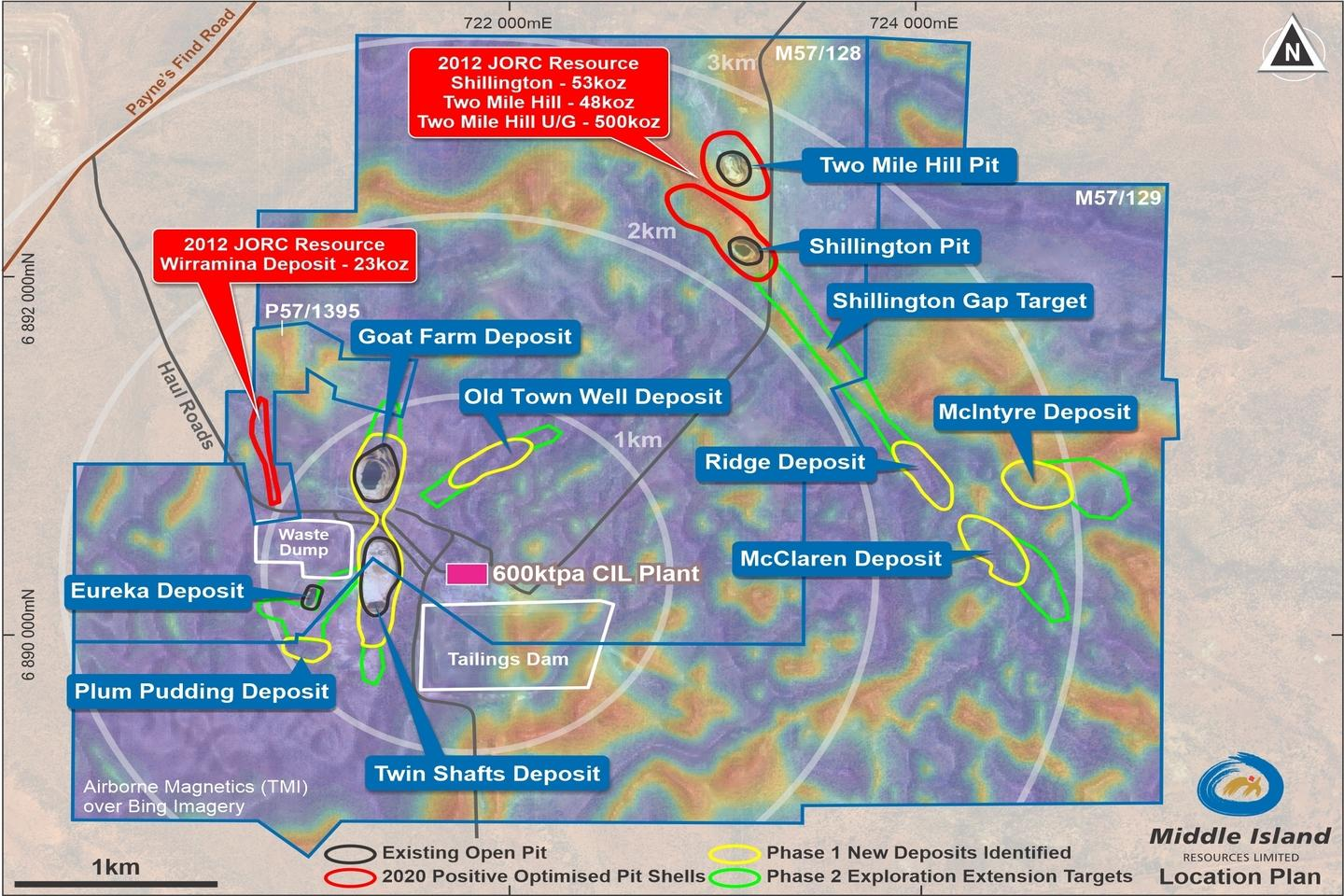 Middle Island satellite gold deposit shaping up