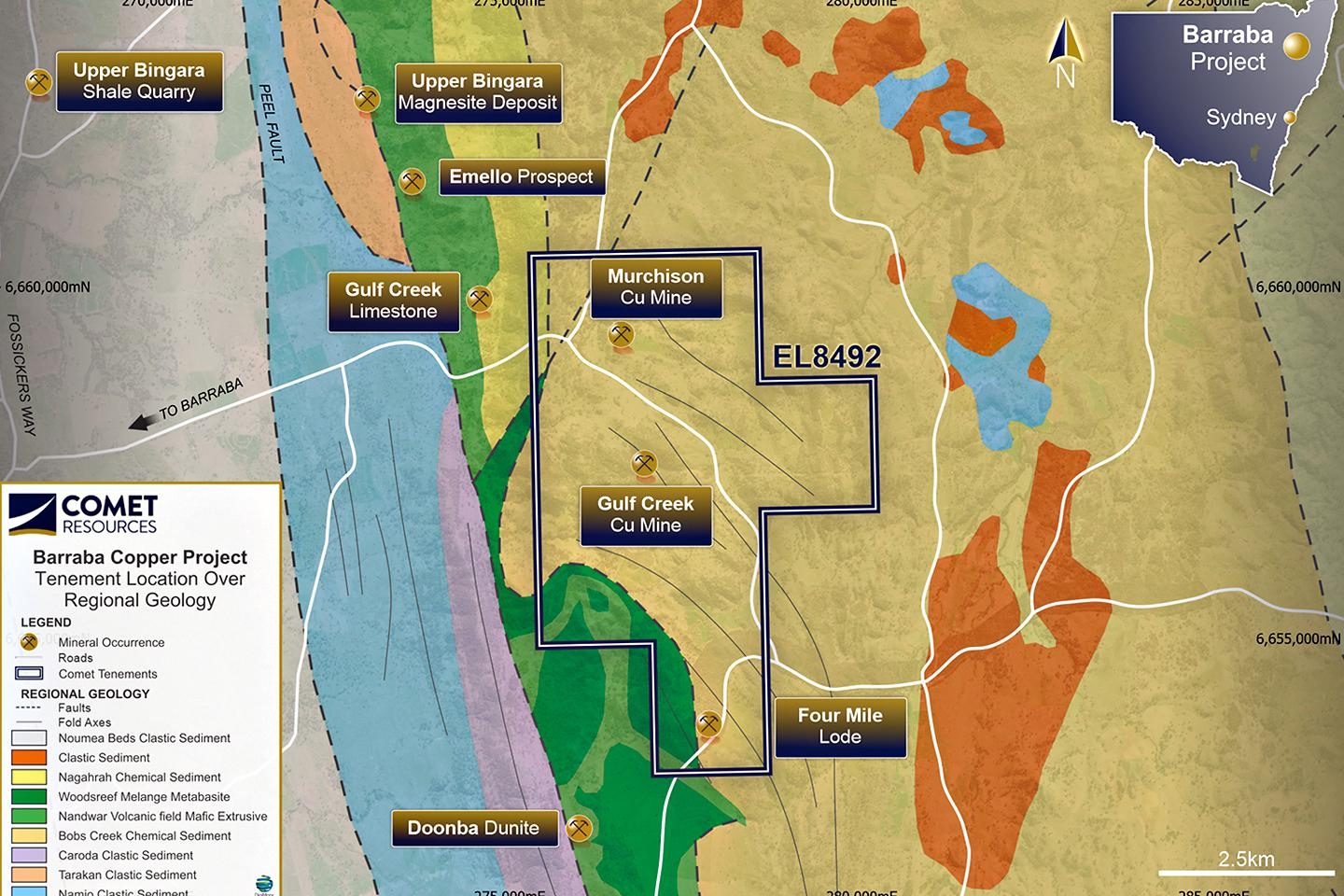 Comet secures access to Barraba copper project